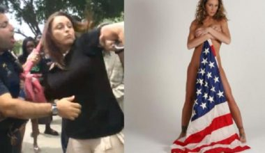 GOP 'Hero' Who 'Saved' Flag Also Posed Nude With It Dragging The Ground (PHOTOS)