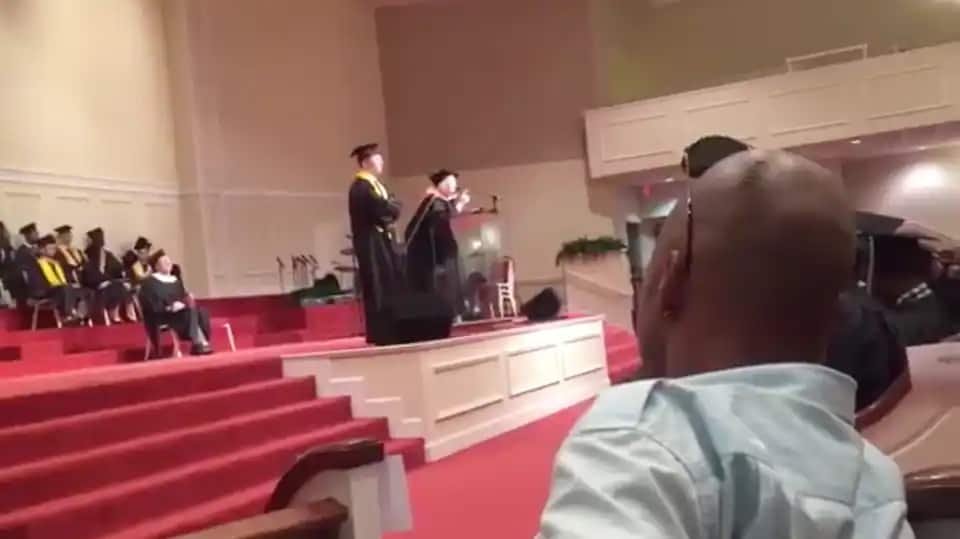 VIRAL VIDEO White Georgia Principal Ruins Graduation With Racist ... 2015) during the school's graduation ceremony as she tried to calm