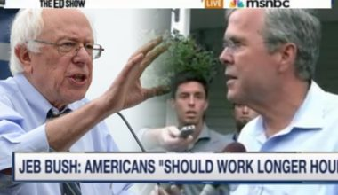 Bernie Sanders Tears Jeb Bush A New One Americans Already Work Long Enough Hours (VIDEO)