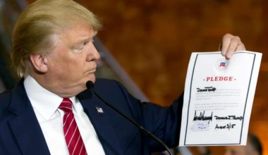 Terrified GOP Asks Candidates (Read Trump) To Sign Loyalty Pledge