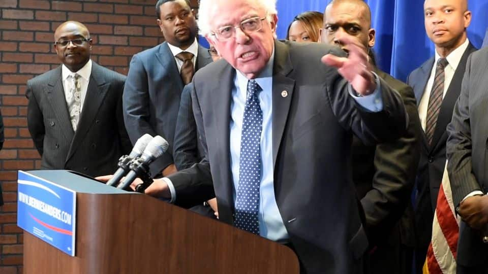 Bernie Sanders Goes To Freddie Gray's Neighborhood To Talk Poverty