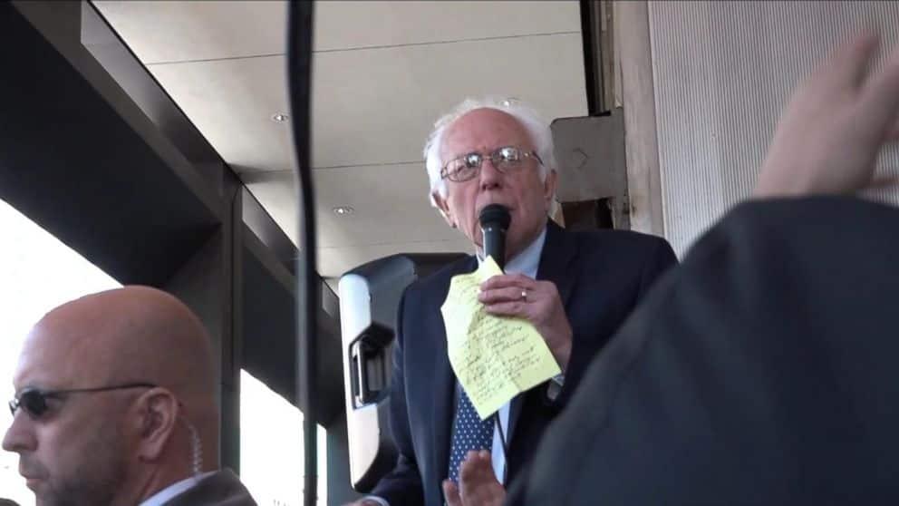 Bernie Sanders Joins Verizon Picket Line To Protest On Behalf Of 40k Union Workers (VIDEO)