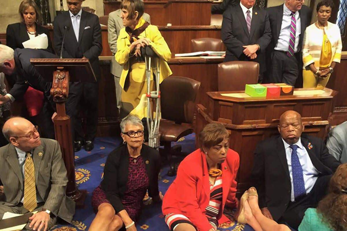Occupy Congress Watch Democrats Stage Sit-In Protest To Demand Gun Reform (VIDEO)