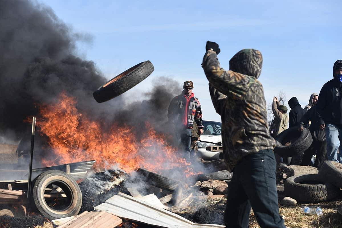 Police Cross Line As Standing Rock Protester Has Arm Blown Apart
