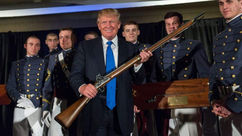 Trump To NRA 'No Gun-Free Zones,' While Guns Banned At Most Trump Properties