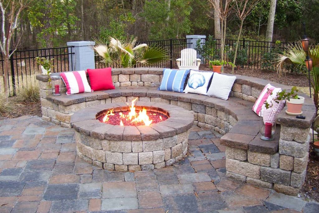 A Fire Pit Extends The Backyard's Utility Into Spring And Fall